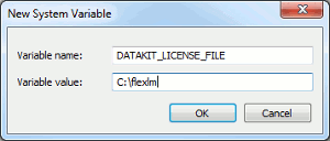 DATAKIT_LICENSE_FILE variable definition