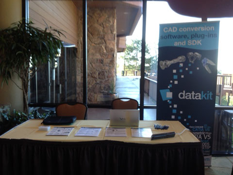 Datakit booth at the 3DCIC