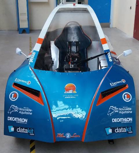 Rib'Car, the efficient vehicle designed by students of Arnaut Daniel high school, with the help of Datakit